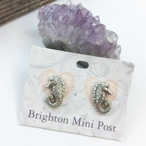 • Brighton • Angelica Mini Post Seahorse Earrings